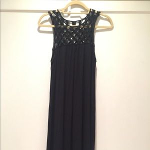 Anthropologie Maeve sleeveless black dress